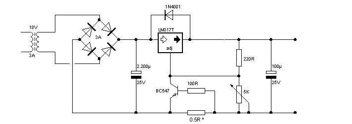 Schema redresor auto incarcator acumulator, baterie 12v.